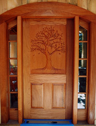 tj mcdermott front door panel   architectural details wood carvings