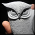 Carved Stone Owl Detail